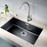 Jupiter Brushed Stainless Steel Single Lever Mono Kitchen Sink Mixer KTA025